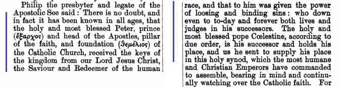 Conciliul din Efes Sesiunea 3 desfasurare NPNF2 vol 14 pg 223