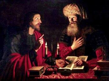 Isus si Nicodim botezul cu apa obligatoriu
